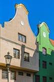 Fachadas de viviendas antiguas Foto de archivo libre de regalías
