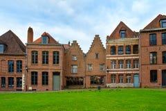Fachadas del ladrillo en Lille Imágenes de archivo libres de regalías