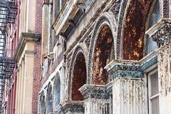 Fachadas do ferro de Philadelphfia Fotografia de Stock