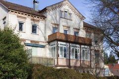 fachadas e construções da cidade histórica no inverno Imagem de Stock