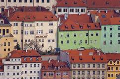 Fachadas em Praga Foto de Stock Royalty Free