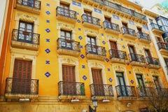 Fachadas hermosas de edificios en San Sebastian Donostia, España foto de archivo libre de regalías