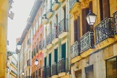 Fachadas hermosas de edificios en San Sebastian Donostia, Espa?a fotografía de archivo libre de regalías