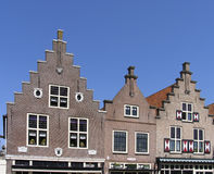 Fachadas históricas holandesas fotos de stock
