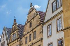Fachadas históricas no mercado central de Bielefeld Imagem de Stock Royalty Free