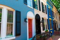 Fachadas históricas Washington do distrito de Georgetown fotos de stock royalty free