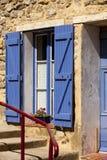 Fachadas medievales en Francia del sur Imágenes de archivo libres de regalías