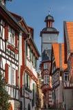 fachadas Metade-suportadas da cidade velha de Heppenheim Imagens de Stock Royalty Free