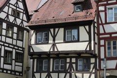 fachadas Metade-suportadas na cidade velha de Ulm Imagem de Stock