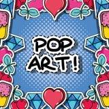 Fachion pop art patch background design. Vector illustration vector illustration