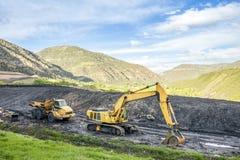 Fachkundige Maschinen benutzt zur Kohlenaushöhlung Lizenzfreies Stockfoto
