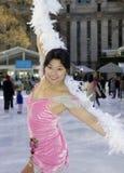 Fachowa żeńska łyżwiarka Obraz Royalty Free