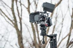 Fachowa DSLR kamera na żurawiu Zdjęcia Royalty Free