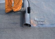 Fachowa instalacja waterproofing Fotografia Royalty Free