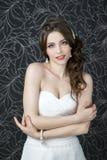 Fachowa makeup fryzury panna młoda obraz royalty free