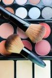 Fachowa makeup paleta z makeup muśnięciem Zdjęcie Stock