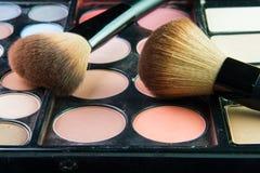 Fachowa makeup paleta z makeup muśnięciem Obraz Stock
