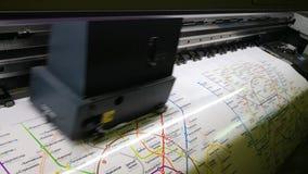 Fachowa szeroka format drukarki druków mapa Moskwa metro zdjęcie wideo