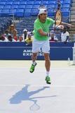 Fachowe gracz w tenisa David Ferrer praktyki dla us open 2014 Obraz Stock