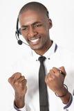 Fachowego centrum telefonicznego faktorska samiec udaremnia Obrazy Royalty Free