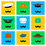 Fachowi kapelusze Obraz Stock