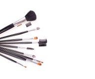 Fachowi kosmetyków muśnięcia zdjęcie stock