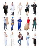Fachowi pracownicy, biznesmen, kucharzi, lekarki, obraz stock