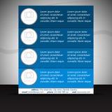 Fachowy biznesowy ulotka szablon lub korporacyjny sztandar Fotografia Stock