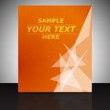 Fachowy biznesowy ulotka szablon, pokrywa projekt lub korporacyjna broszurka, royalty ilustracja