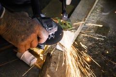Fachowy budowniczy ciie metal części Zdjęcia Royalty Free