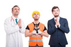 Fachowy budowniczy, prawnik i doktorski patrzeć dla nadziei, Zdjęcie Royalty Free