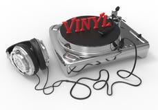 Fachowy DJ gracza Winylowy pojęcie royalty ilustracja