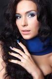 Fachowy fachowy makijaż i manicure Fotografia Royalty Free
