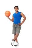 Fachowy gracz koszykówki fotografia royalty free