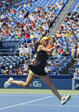 Fachowy gracz w tenisa Agnieszka Radwanska podczas pierwszy round dopasowania przy us open 2014 Obraz Stock
