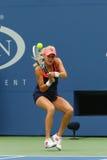 Fachowy gracz w tenisa Agnieszka Radwanska podczas pierwszy round dopasowania przy us open 2013 przeciw Silvia soler Zdjęcia Royalty Free