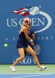 Fachowy gracz w tenisa Agnieszka Radwanska podczas pierwszy round dopasowania przy us open 2013 przeciw Silvia soler Fotografia Stock