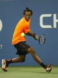 Fachowy gracz w tenisa Gael Monfils podczas drugi round dopasowania przy us open 2013 przeciw John Isner Obraz Royalty Free