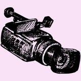 Fachowy kamera wideo ilustracji