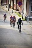 Fachowy kolarstwo dla młodzieżowych kobiet w Darlowo Zdjęcie Royalty Free