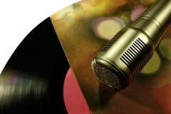 Fachowy kondensatorowy pracowniany mikrofon pojęcie Zdjęcie Stock