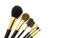 Fachowy kosmetyk szczotkuje dla makeup na białym tle Fotografia Royalty Free