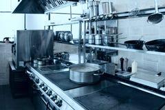 Fachowy kuchenny wnętrze, tonujący fotografia stock