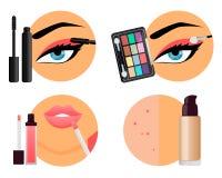 Fachowy Makeup Obraz Royalty Free
