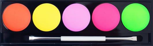 Fachowy makeup kolekci zestaw Zdjęcia Royalty Free