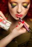 Fachowy makijaż Obrazy Royalty Free