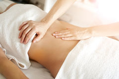 Fachowy masaż Obrazy Royalty Free