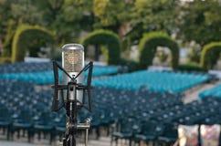 Fachowy mikrofon dla koncerta Zdjęcia Royalty Free