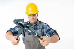 Fachowy pracownik budowlany Fotografia Stock