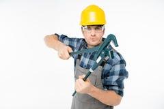 Fachowy pracownik budowlany Obrazy Royalty Free
